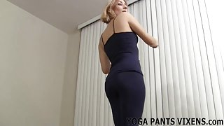 My ass cheeks peek out the bottom of these yoga pants JOI