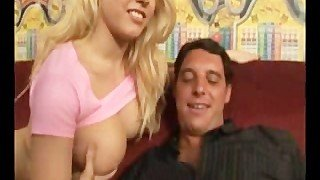 Kagney Linn Karter Giving a Handjob to Lucky Winner Seth