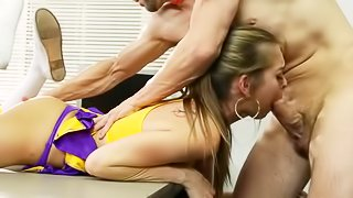 Sports babe gets drilled hard