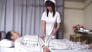 Alluring Japanese nurse has a patient deeply banging her ti