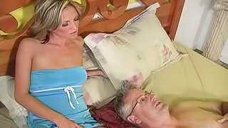 Husband jerks off as his wife enjoys some black dick