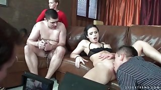 Behind the scenes of a cuckold fuck video