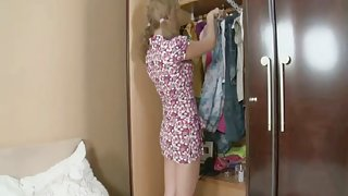 Little pigtailed Russian Teenager gets fucked in the Ass