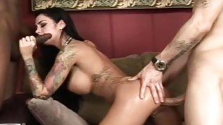 Angelina Valentine Has Her First Interracial Threesome