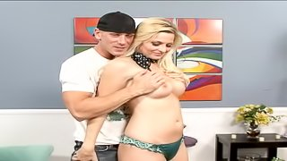 Amazing blonde housewife rides the stiff cock with vigor