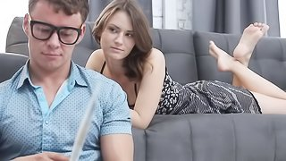 Young beautiful step sister seduces her step brother