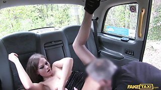 Hot Posh Lady Seduces Driver - FakeTaxi