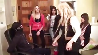 Group of Girls spitting loogies in a Loser face