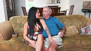 Blowing an old man for fun