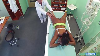 Jasmine in English beauty sucks and fucks for free healthcare - FakeHospital