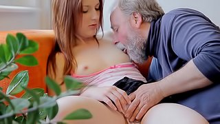 Scrumptious Sveta Has Sex With A Nasty Old Man In Front Of Her Boyfriend