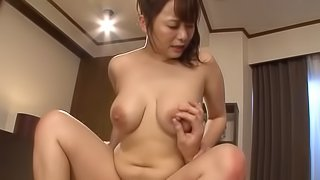 Curvy Asian girl is happy to stroke cocks until they cum