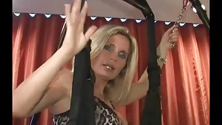 Lisa Berlin plays with a crazy big toy and her Sex Pig