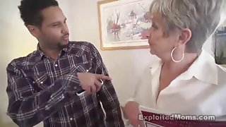 Unbelievable breasty gandma fucked by a blacked guy