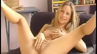 Sexy and desirable girl Kathy plays with her hot pussy
