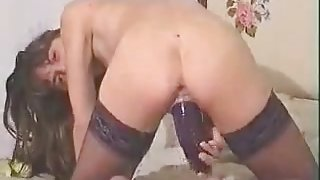 Bitch c compilation 2 with fist veg dildo in pussy and ass