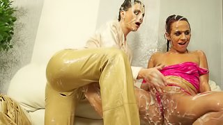 Masturbating together is what Terry and her friend like the most