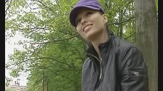 Busty natural amateur outdoor sex