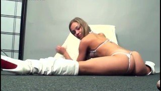 Margo the flexible Russia in white