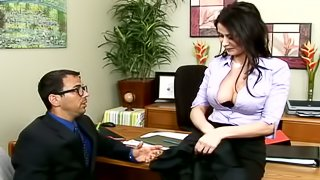 Eva Karera blows and gets fucked in missionary and other positions