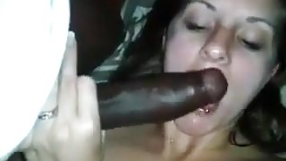 Slut wife takes a bbc while showing her wedding ring