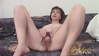 Sofia Undresses For You and Shows You Her Hairy Pussy