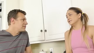 Young babe Cleo Vixen gets her cunt filled with a monster dick
