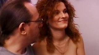 Busty amateur gets fucked by old bloke