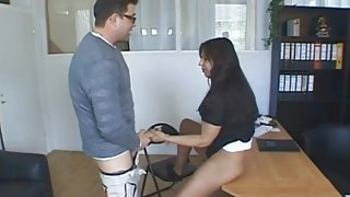 Milf at the job interview fucked until she squirts