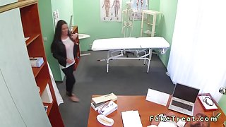 Slim amateur patient fucked by doctor in fake hospital
