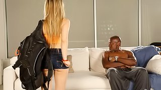 Lovely skinny teen Lilly Ford is trying hardcore sex with a BBC