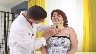 Doctor fuck that horny grandma and treat her