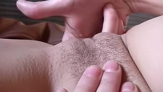 See this slim cutie give her pussy a good fingering