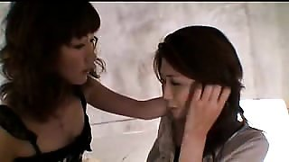 Lustful and lonely Oriental housewife explores her lesbian