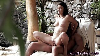 Alluring eurobabe assfucked by big cock