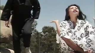 Horny Asian Beauty Gets Interrupted while She Meditates on a Cliff