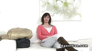 Brunette with nice ass banged in casting