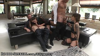 RoccoSiffredi Sexy Squirting Auditions Orgy