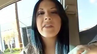 Woman feels the hardcore fucking delivered while her hair gets pulled wildly