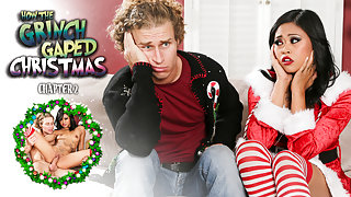 Joanna Angel & Krissie Dee & Michael Vegas in How The Grinch Gaped Christmas - Chapter 2 Scene