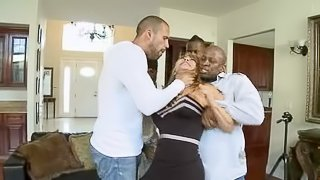 Horny Ava Devine gets gangbanged by Black guys