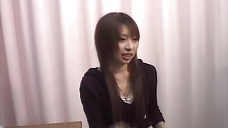 Lovely Japanese gets her pussy toyed during a Gyno exam