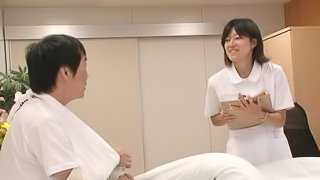 Asian Teen With Cute Pigtails Rides A Hard Cock At The Hospital