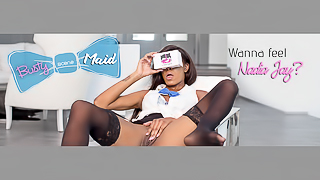 The Busty Black Maid - Fuck This Hot Stockings Tease