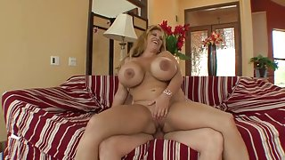 Hot fucking with a busty blonde vixen