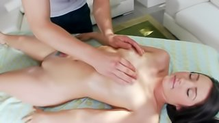 This massage therapist knows some secret techniques for extra relaxation