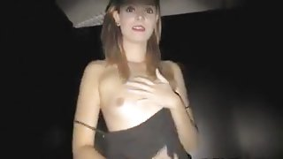 Sluttiest gal at gloryhole fucking and swallowing strangers