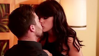 Handsome stud has fun in hotel room with girl from escort