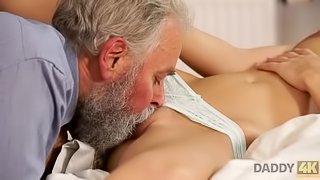 DADDY4K. Blonde celees birthday together with horny bearded dad