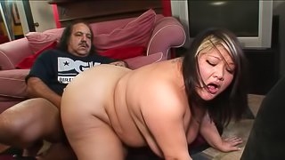 Asian brunette fatty gets nailed by a legendary porn actor so well